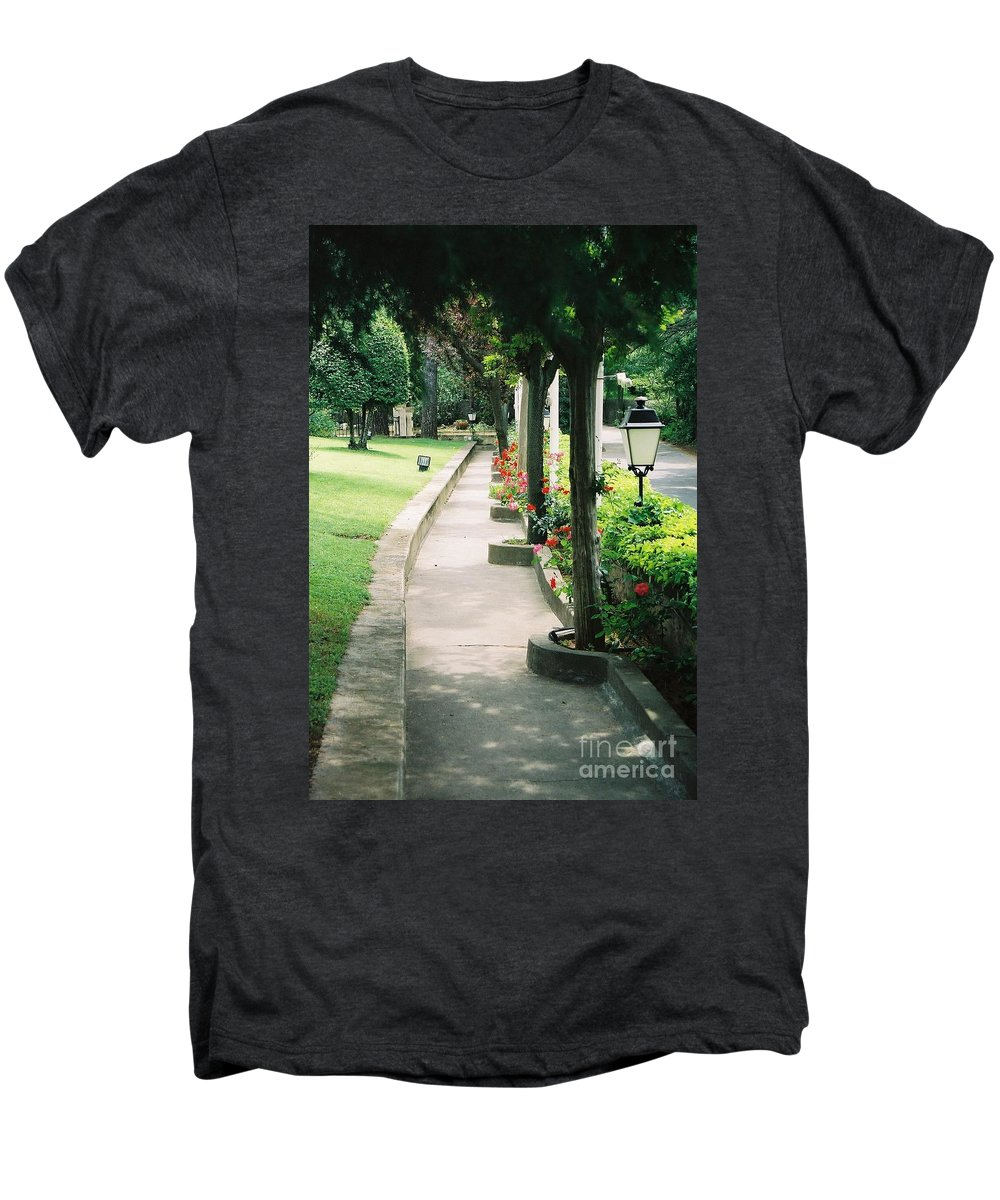 Arles Men's Premium T-Shirt featuring the photograph Arles Walkway by Nadine Rippelmeyer