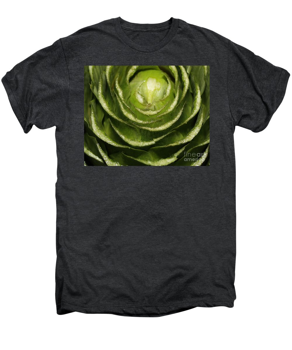 Veggies Men's Premium T-Shirt featuring the photograph Artichoke Close-up by Carol Groenen