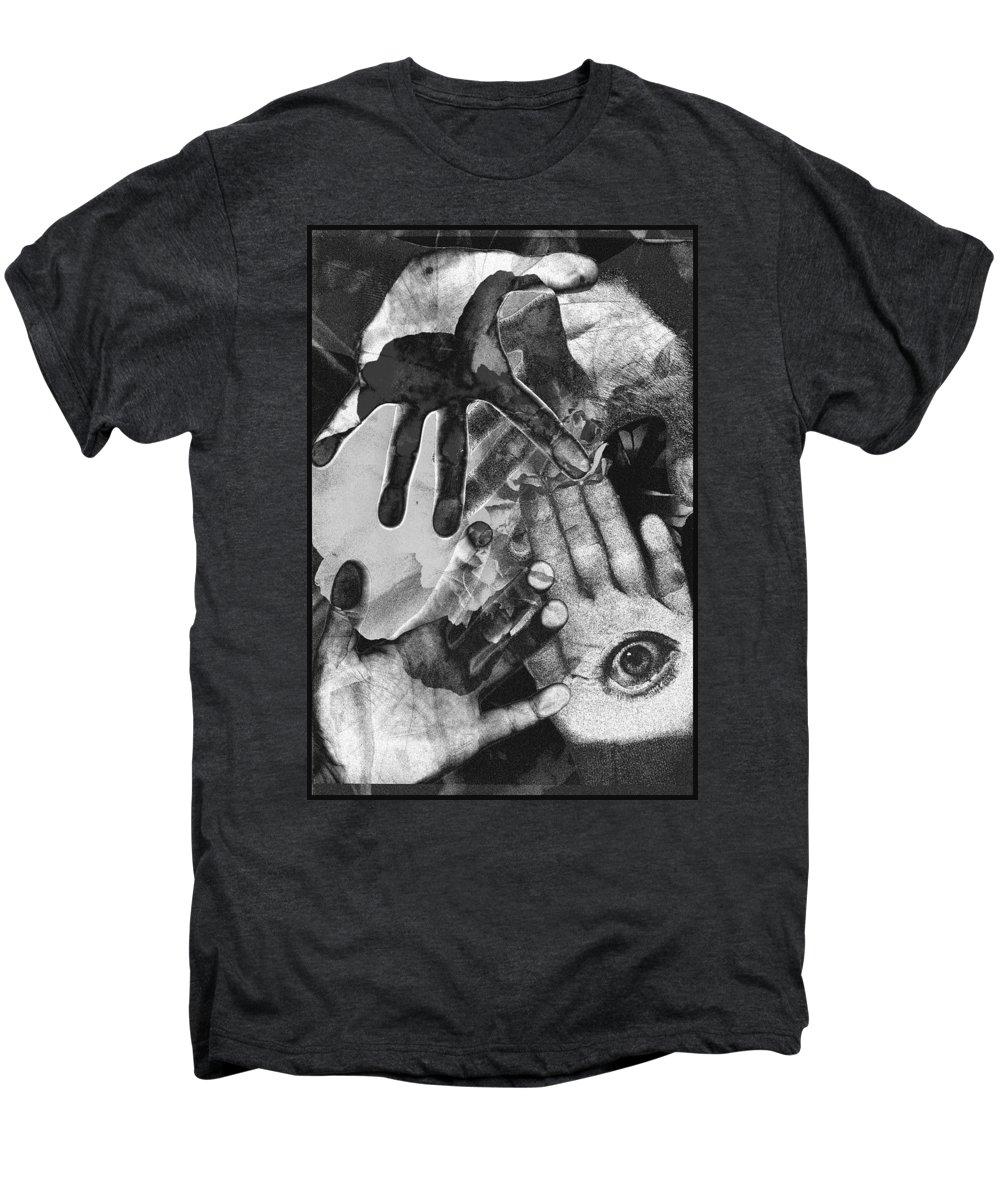 Hands Men's Premium T-Shirt featuring the photograph Artist's Hands by Nancy Mueller
