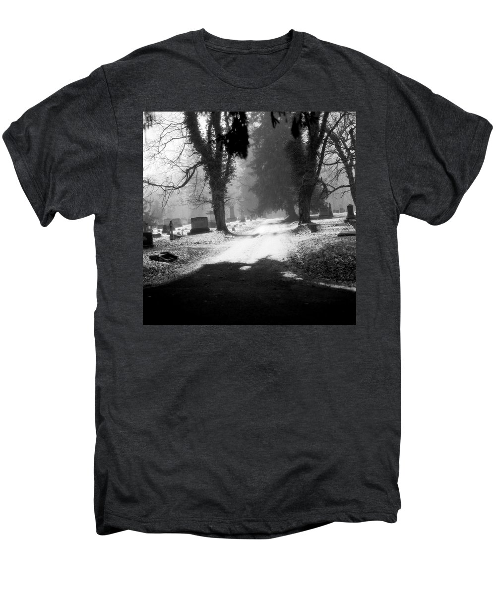 Photograph Men's Premium T-Shirt featuring the photograph Ashland Cemetery by Jean Macaluso