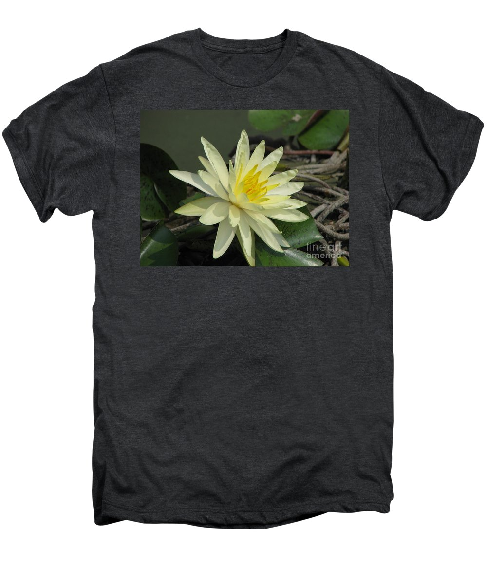 Lilly Men's Premium T-Shirt featuring the photograph At The Pond by Amanda Barcon