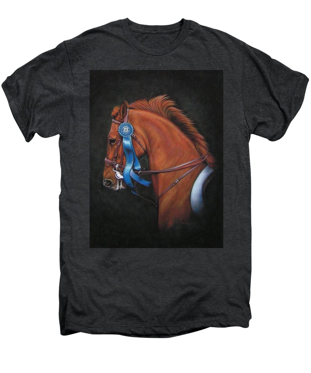 Horse Men's Premium T-Shirt featuring the painting Attitude by Yvonne Hazelton