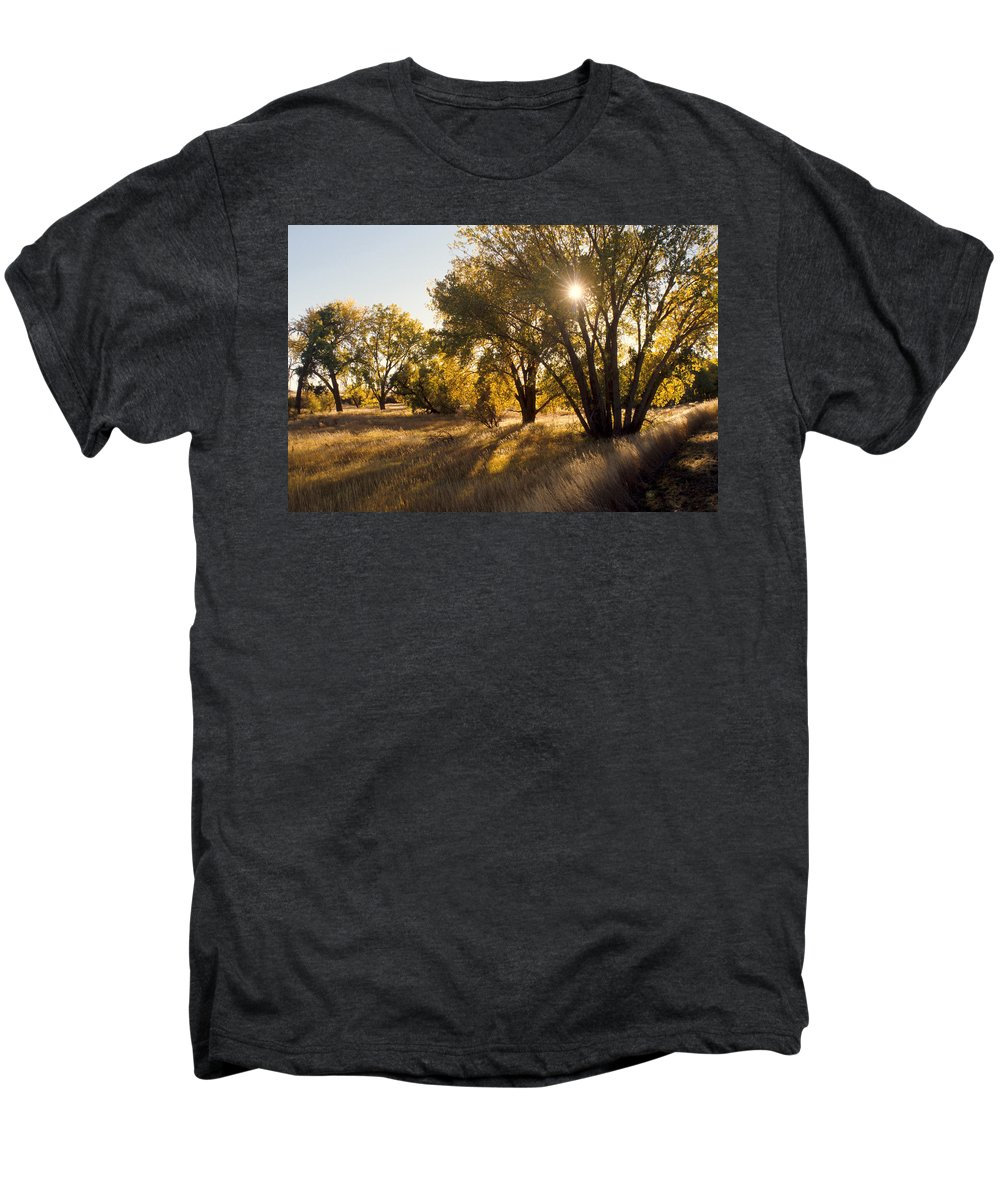 Fall Men's Premium T-Shirt featuring the photograph Autum Sunburst by Jerry McElroy