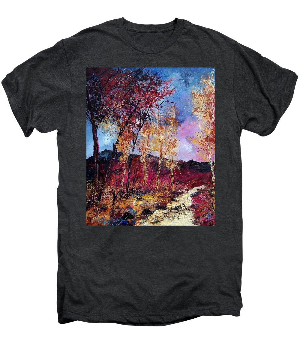 Landscape Men's Premium T-Shirt featuring the painting Autumn 760808 by Pol Ledent