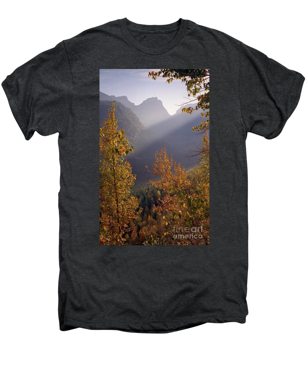Mountains Men's Premium T-Shirt featuring the photograph Autumn At Logan Pass by Richard Rizzo