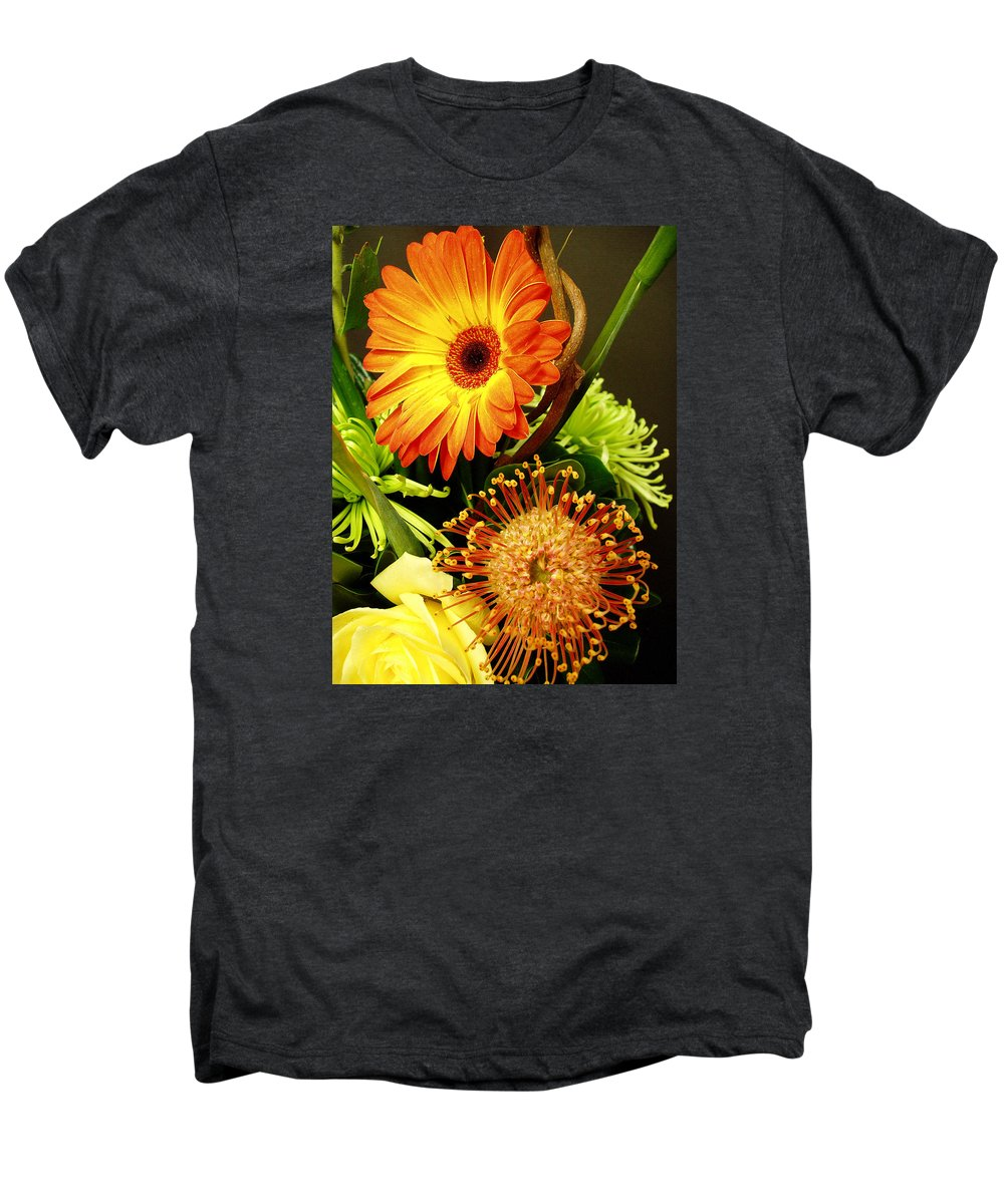Autumn Men's Premium T-Shirt featuring the photograph Autumn Flower Arrangement by Nancy Mueller