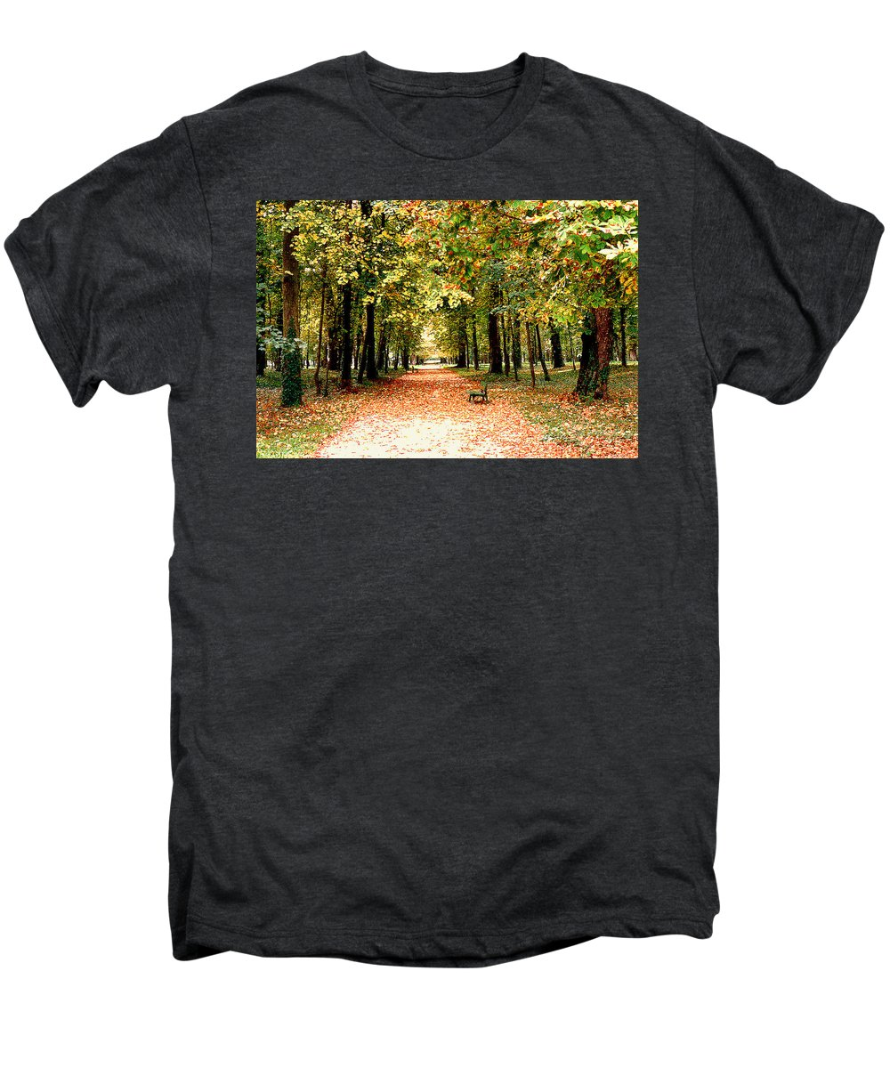 Autumn Men's Premium T-Shirt featuring the photograph Autumn In The Park by Nancy Mueller