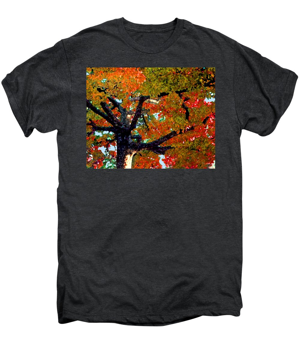 Fall Men's Premium T-Shirt featuring the photograph Autumn Tree by Steve Karol