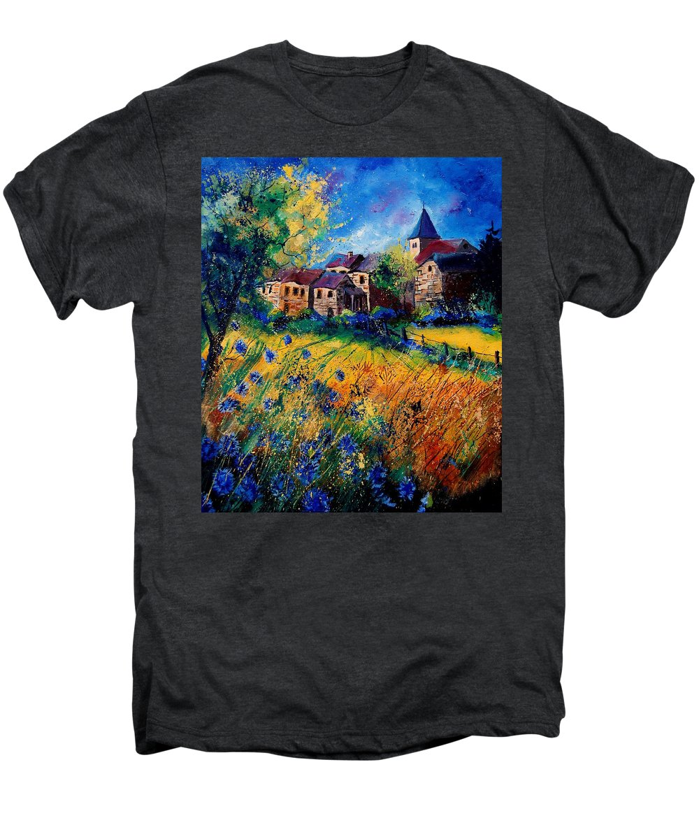 Tree Men's Premium T-Shirt featuring the painting Awagne 67 by Pol Ledent