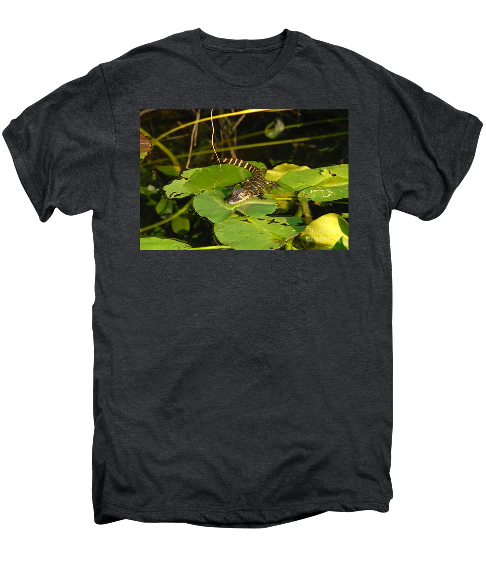 Baby Men's Premium T-Shirt featuring the photograph Baby Alligator by David Lee Thompson
