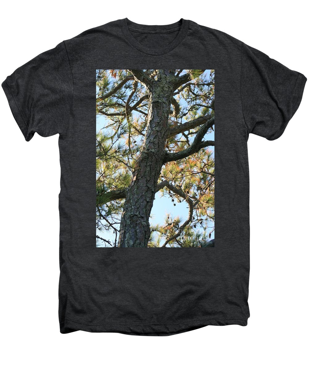 Tree Men's Premium T-Shirt featuring the photograph Bald Head Tree by Nadine Rippelmeyer