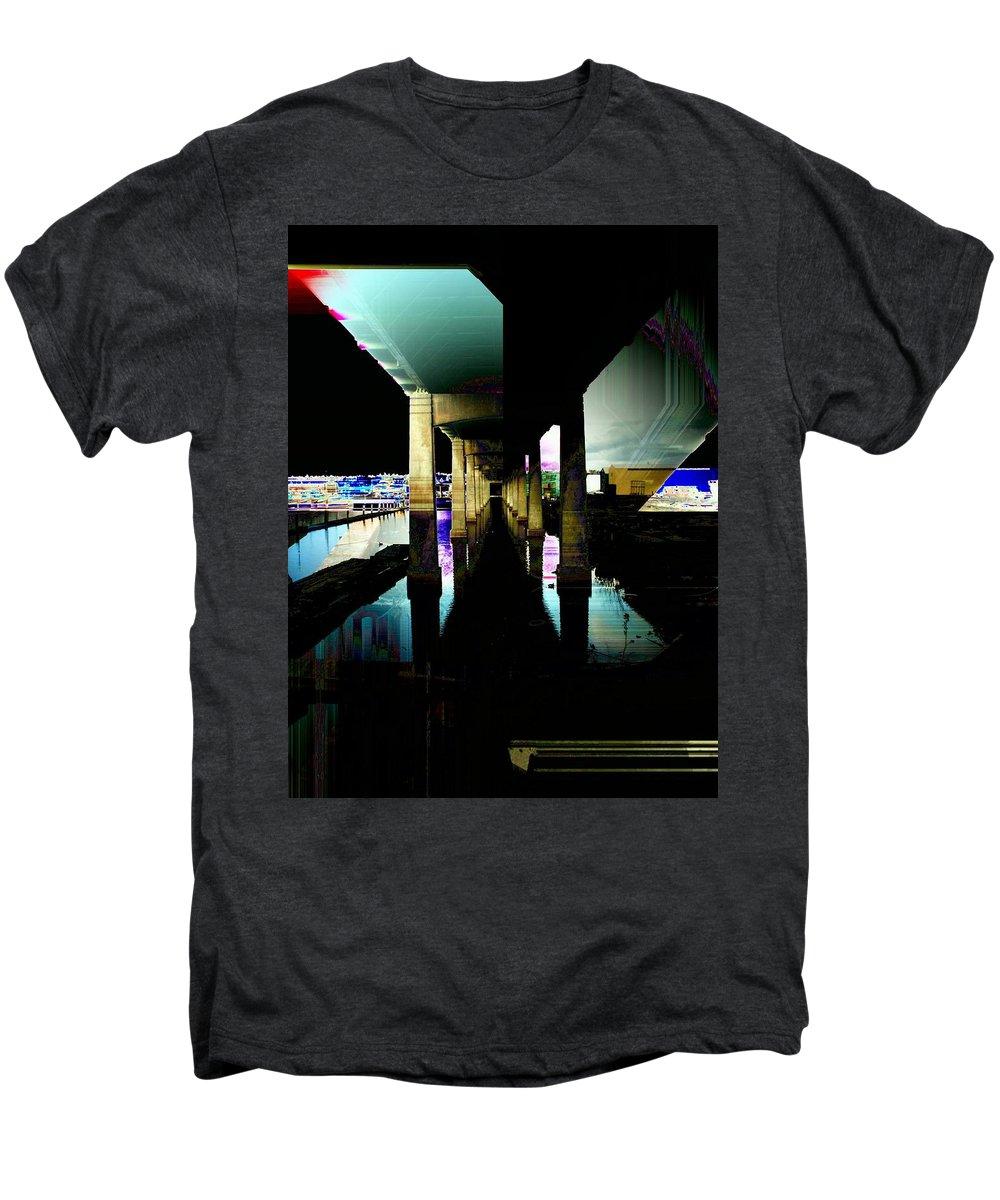 Seattle Men's Premium T-Shirt featuring the digital art Ballard Bridge by Tim Allen