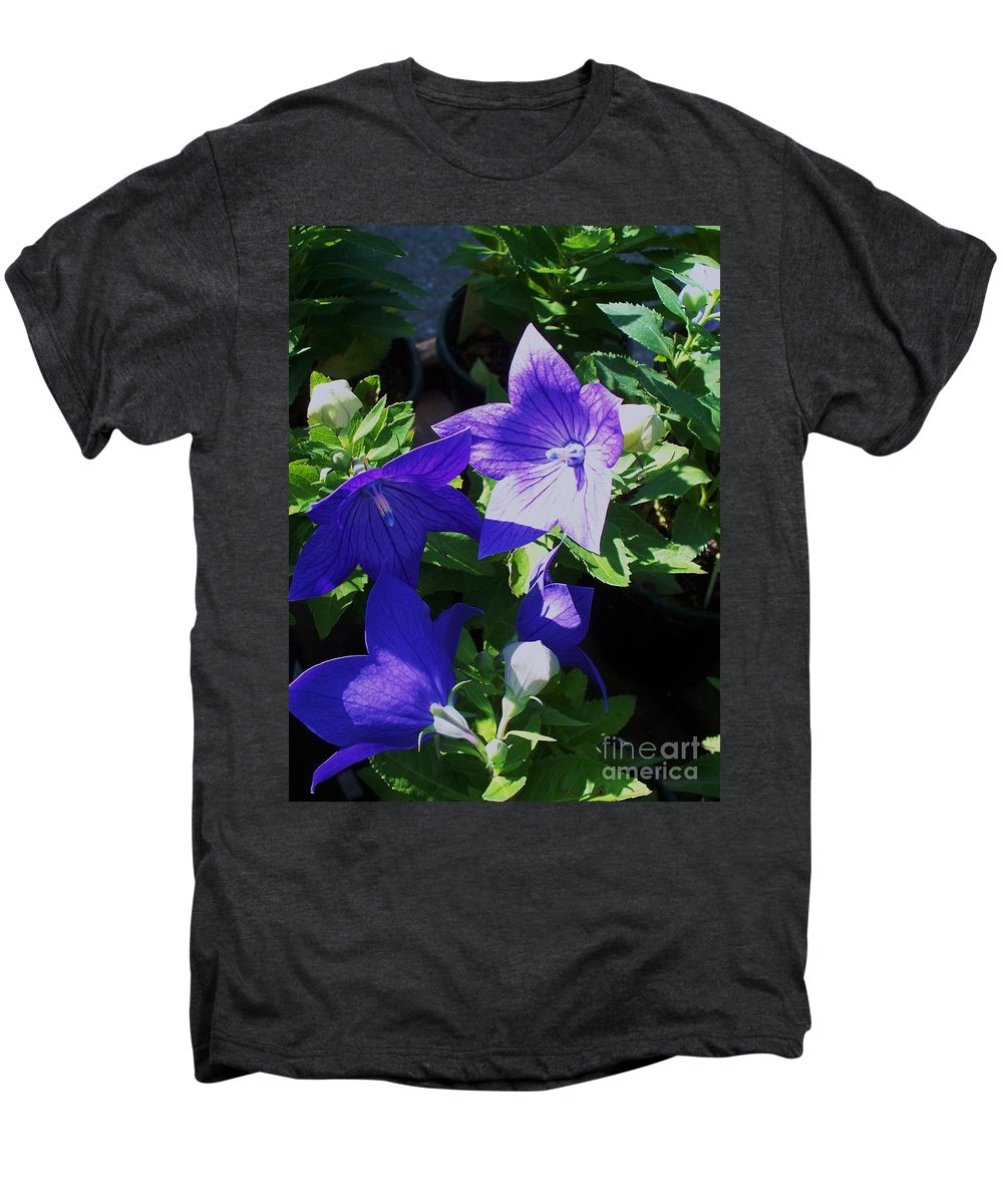Landscapes Men's Premium T-Shirt featuring the photograph Baloon Flower by Eric Schiabor