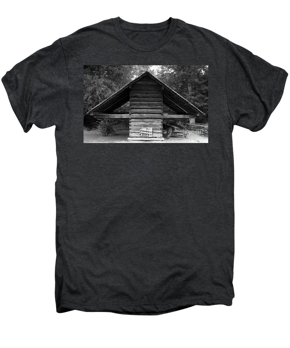 Barn Men's Premium T-Shirt featuring the photograph Barn And Wagon by David Lee Thompson