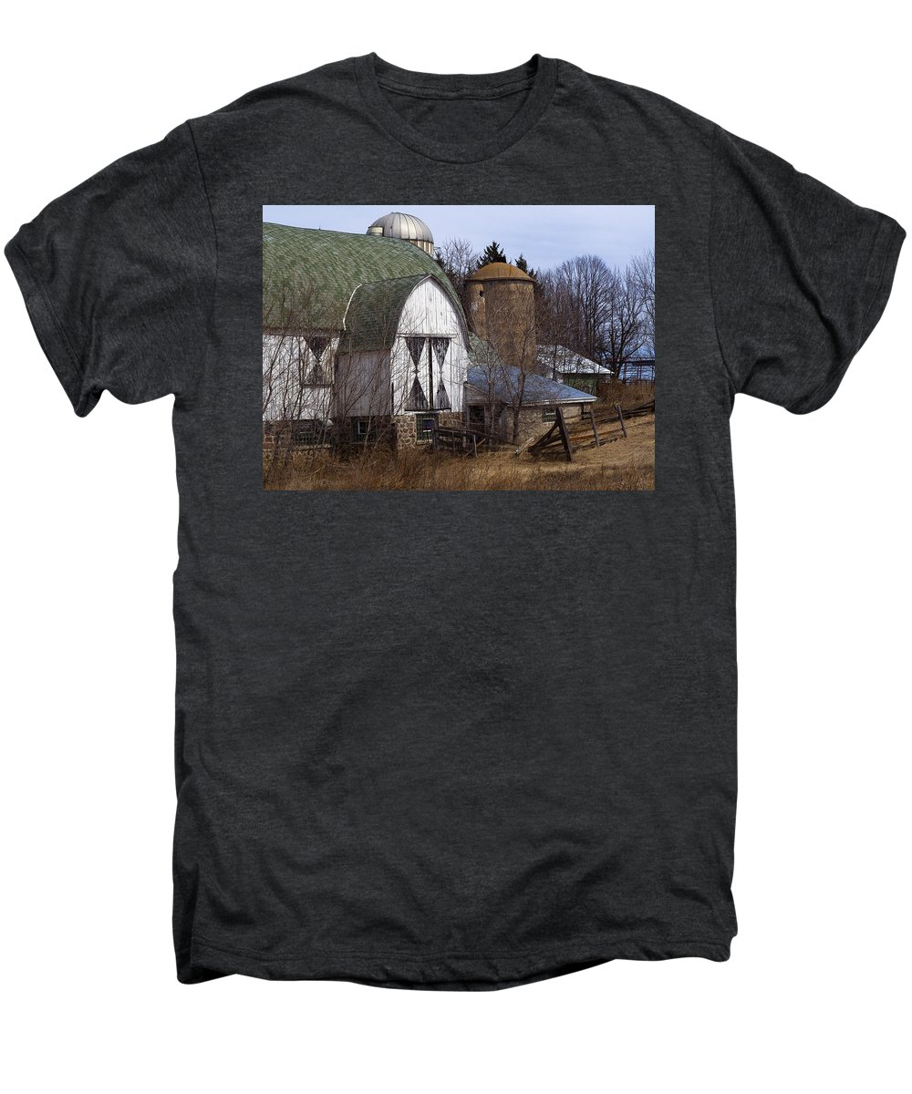 Barn Men's Premium T-Shirt featuring the photograph Barn On 29 by Tim Nyberg
