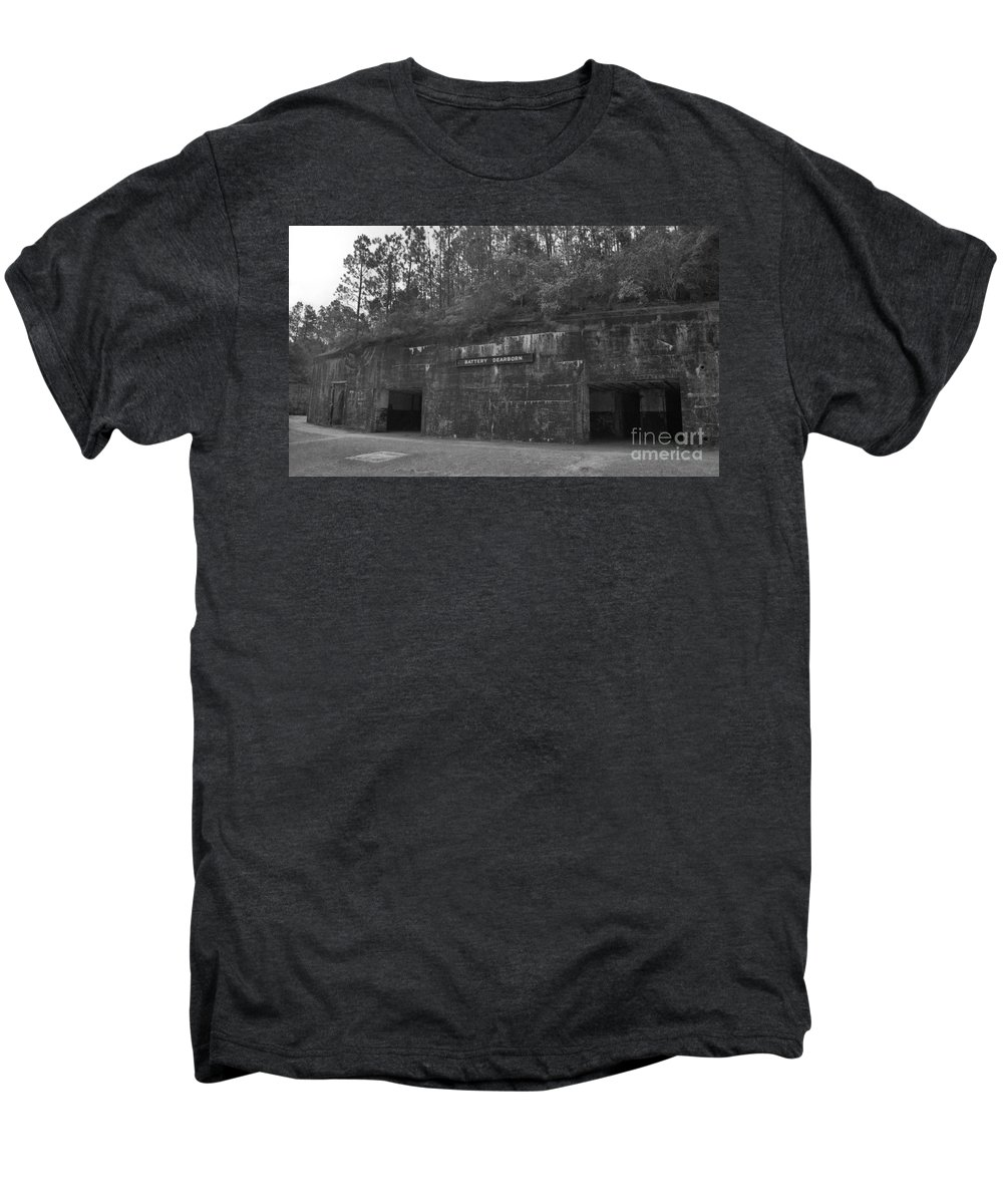 Military Men's Premium T-Shirt featuring the photograph Battery Dearborn by Richard Rizzo
