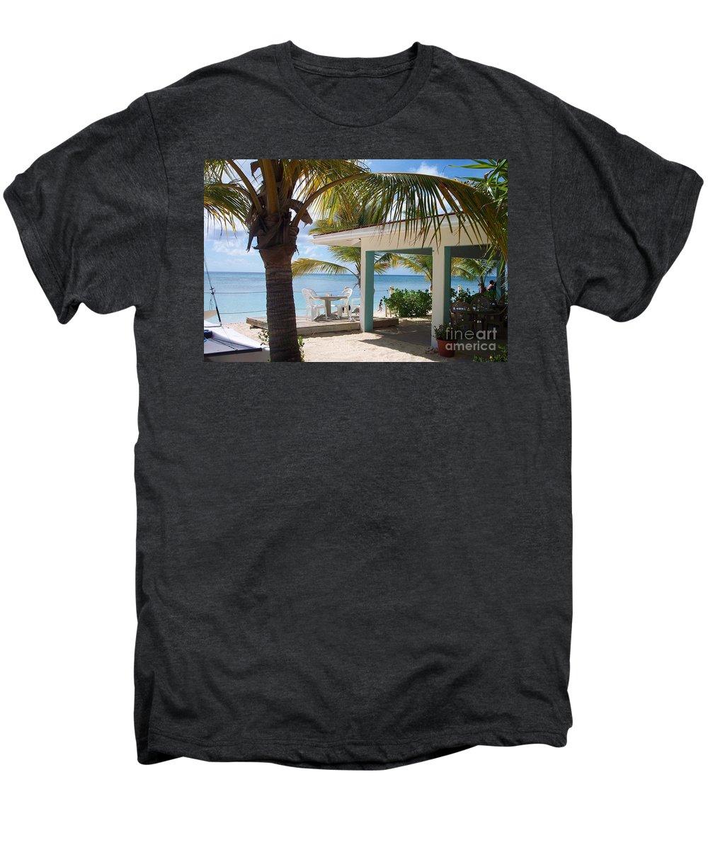 Beach Men's Premium T-Shirt featuring the photograph Beach In Grand Turk by Debbi Granruth