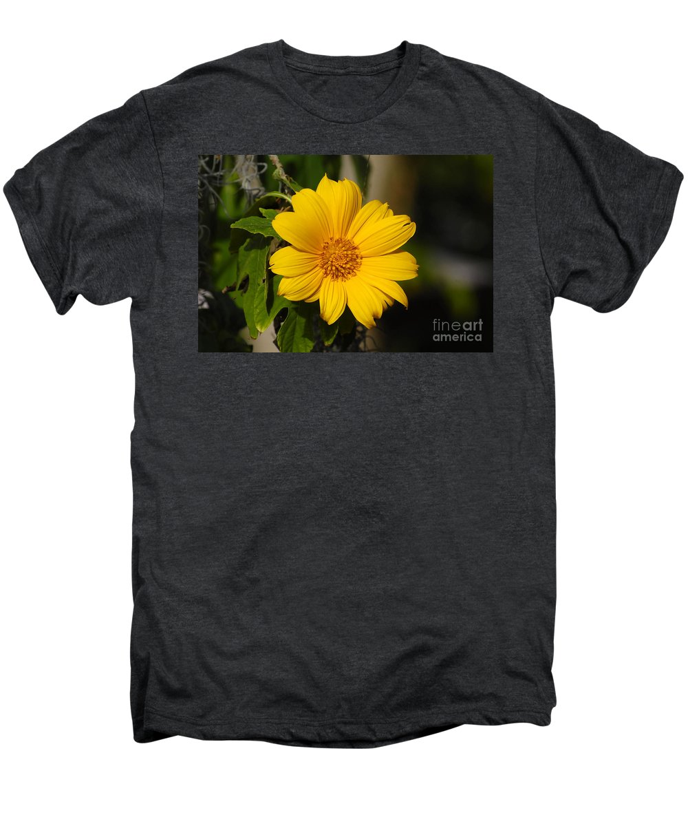 Yellow Men's Premium T-Shirt featuring the photograph Beautiful In Yellow by David Lee Thompson