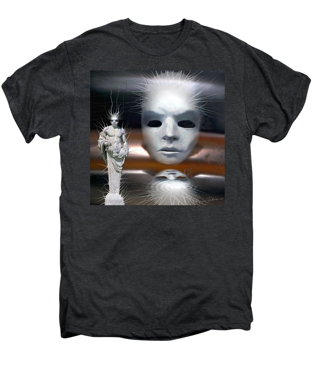 Digital Beauty Eyes Water Men's Premium T-Shirt featuring the digital art Beauty Is Invisible To The Eye. by Veronica Jackson