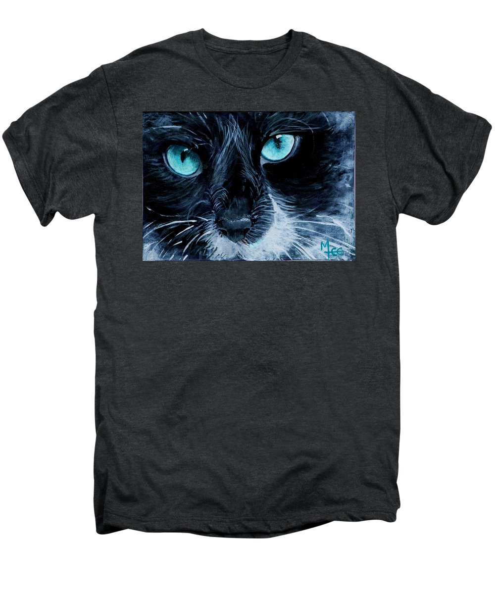 Charity Men's Premium T-Shirt featuring the painting Big Blue by Mary-Lee Sanders