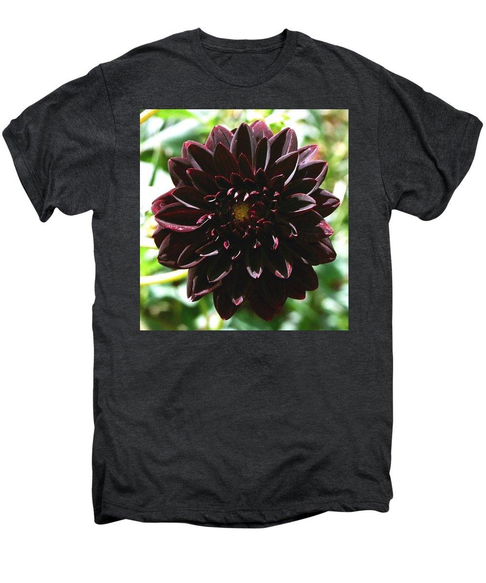 Flower Men's Premium T-Shirt featuring the photograph Black Dalia by Dean Triolo