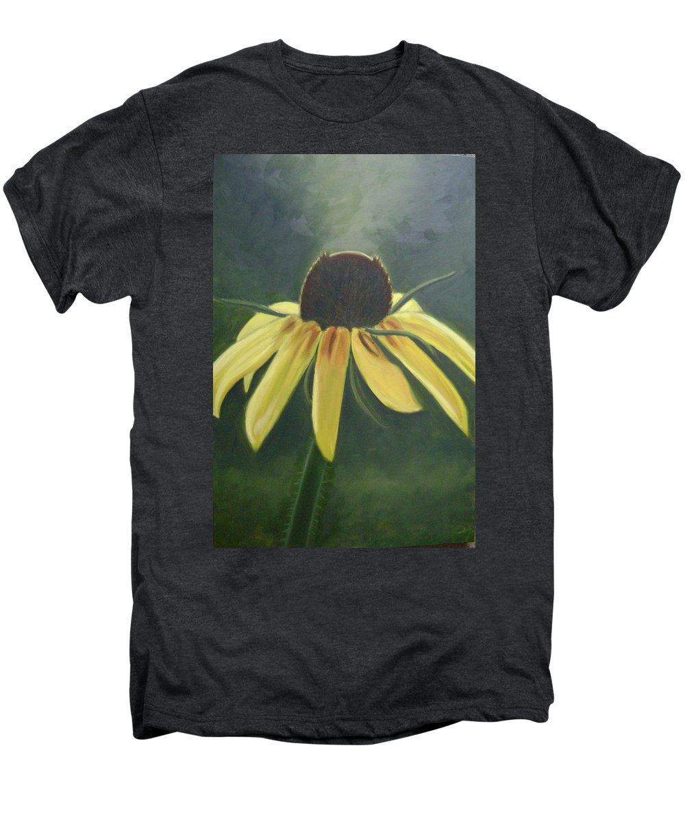 Flower Men's Premium T-Shirt featuring the painting Black Eyed Susan by Toni Berry
