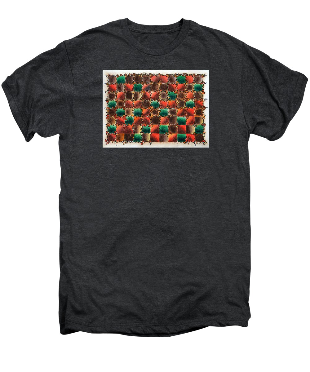 Abstract Men's Premium T-Shirt featuring the painting Black Forest Cake by Dave Martsolf