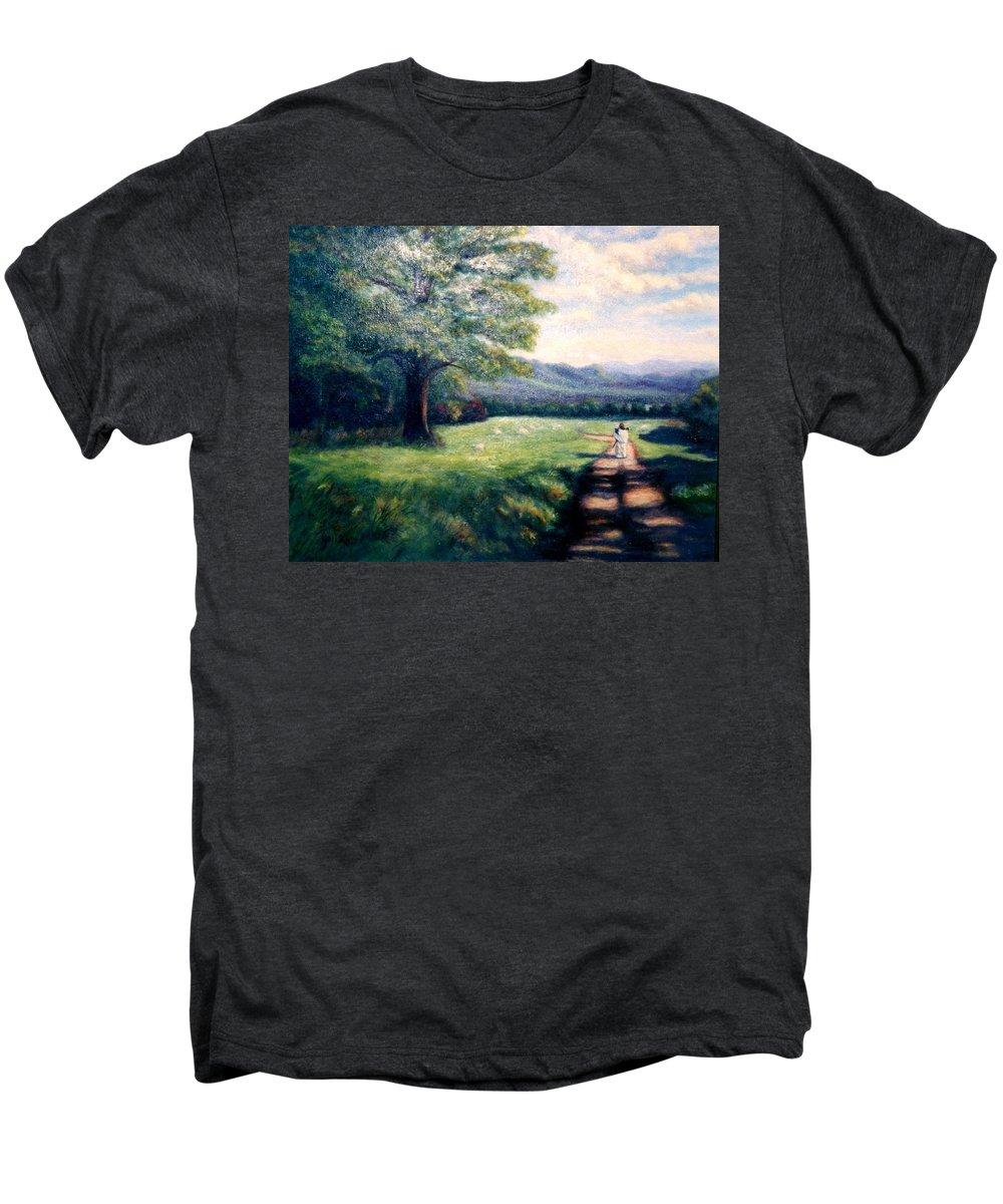 Christian Men's Premium T-Shirt featuring the painting Black Sheep by Gail Kirtz