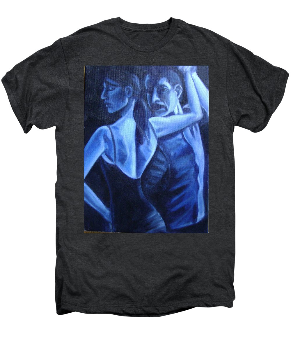 Men's Premium T-Shirt featuring the painting Bludance by Toni Berry