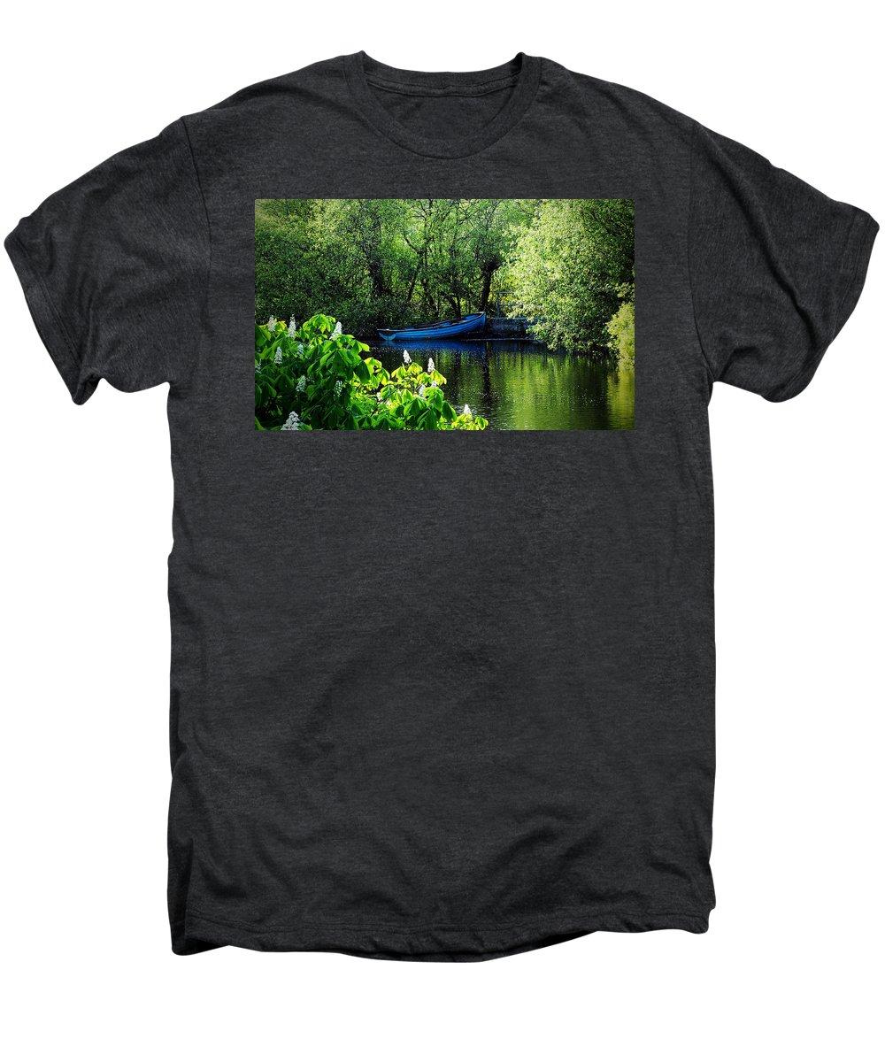 Irish Men's Premium T-Shirt featuring the photograph Blue Boat Cong Ireland by Teresa Mucha