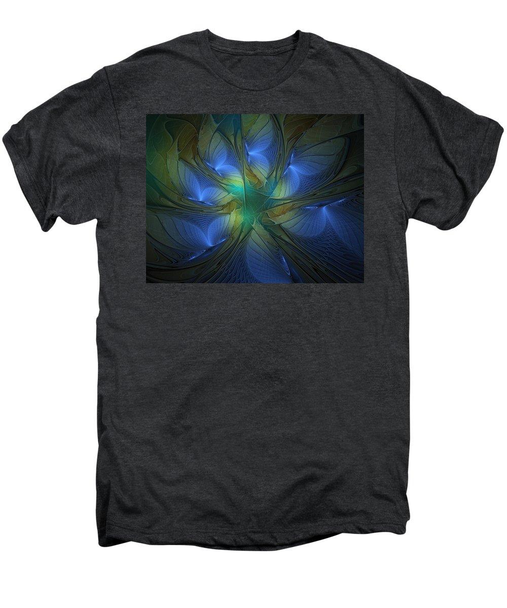 Digital Art Men's Premium T-Shirt featuring the digital art Blue Butterflies by Amanda Moore