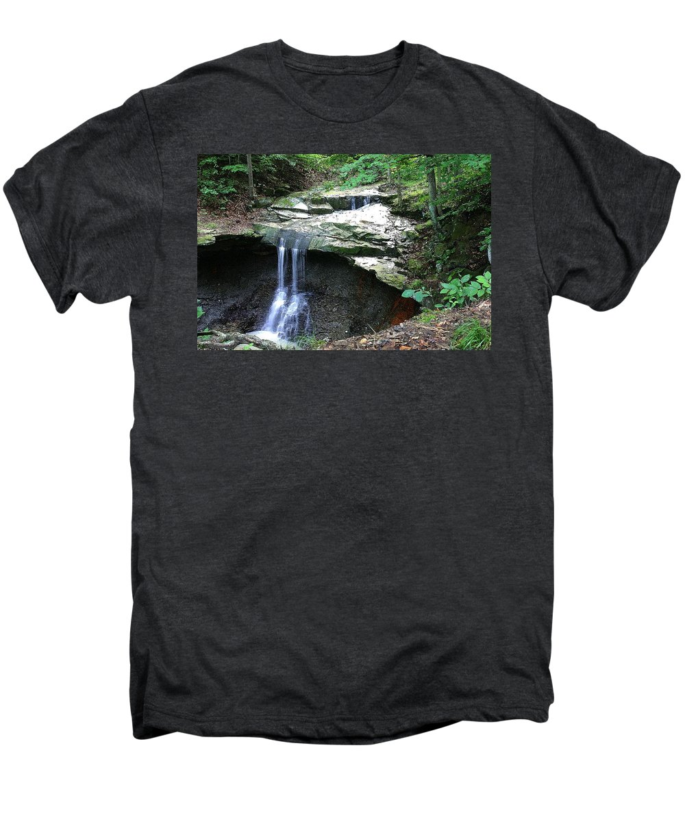 Waterfall. Water Men's Premium T-Shirt featuring the photograph Blue Hen Falls by Nelson Strong