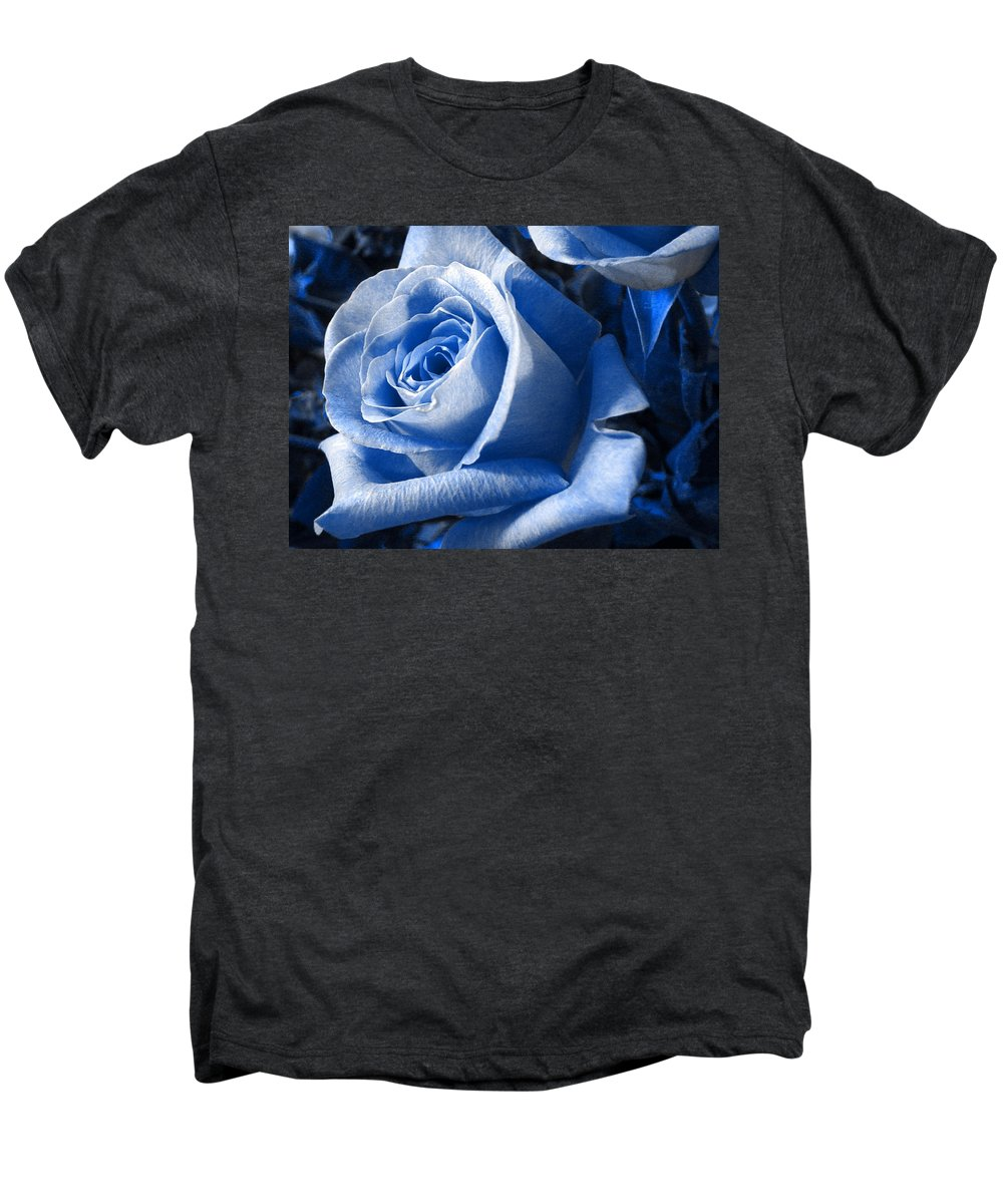 Blue Men's Premium T-Shirt featuring the photograph Blue Rose by Shelley Jones