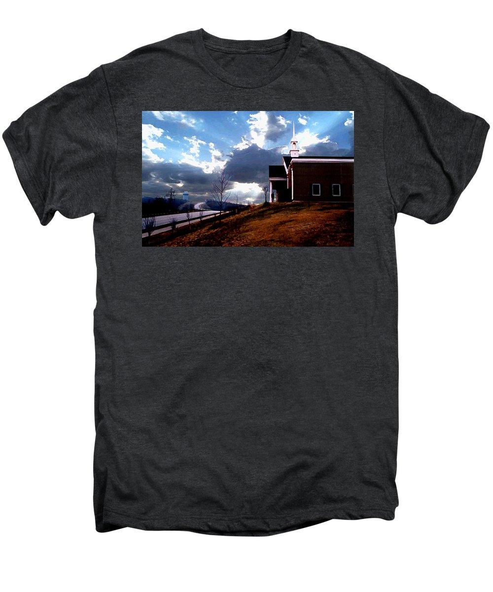 Landscape Men's Premium T-Shirt featuring the photograph Blue Springs Landscape by Steve Karol