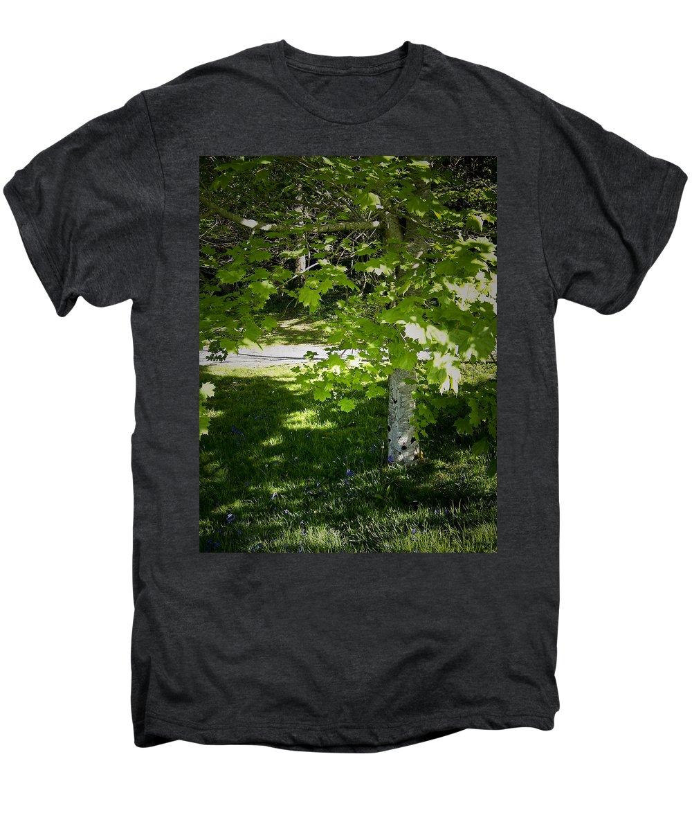 Irish Men's Premium T-Shirt featuring the photograph Bluebells In Killarney National Park Ireland by Teresa Mucha
