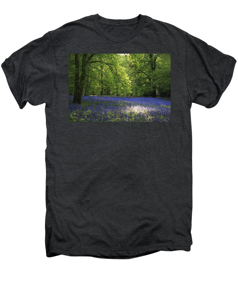 Bluebells Men's Premium T-Shirt featuring the photograph Bluebells by Phil Crean