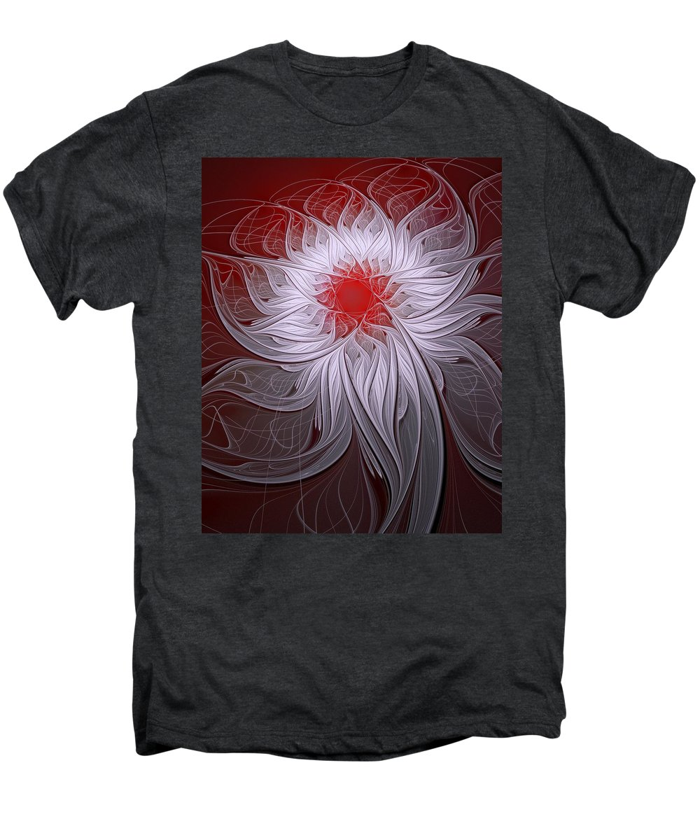 Digital Art Men's Premium T-Shirt featuring the digital art Blush by Amanda Moore