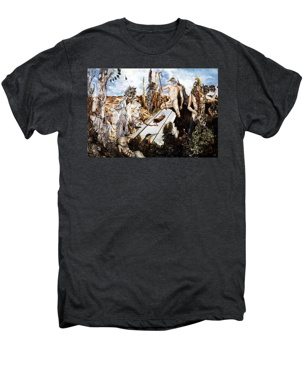 Surrealism Men's Premium T-Shirt featuring the painting Bogomils Court by Otto Rapp