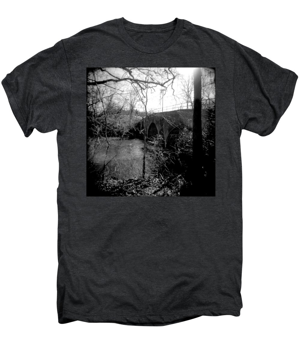 Photograph Men's Premium T-Shirt featuring the photograph Boiling Springs Bridge by Jean Macaluso