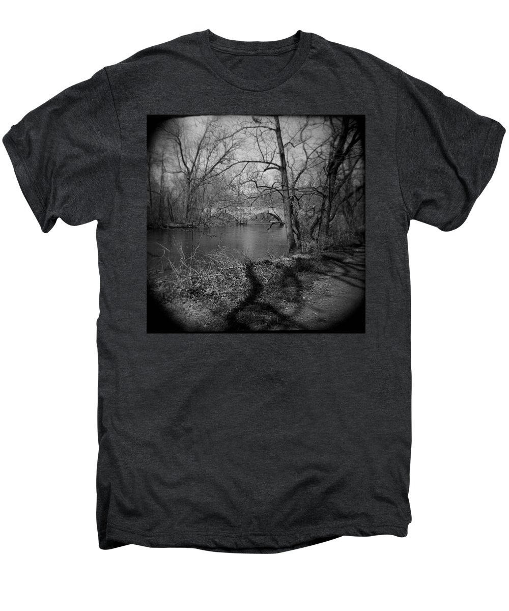 Photograph Men's Premium T-Shirt featuring the photograph Boiling Springs Stone Bridge by Jean Macaluso