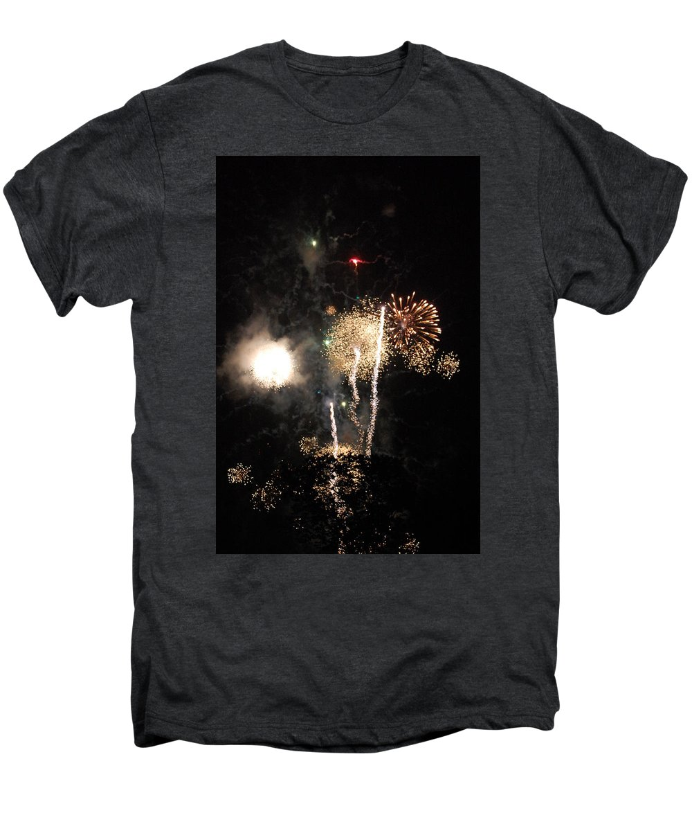 Firwworks Men's Premium T-Shirt featuring the photograph Bombs1 by David Lane
