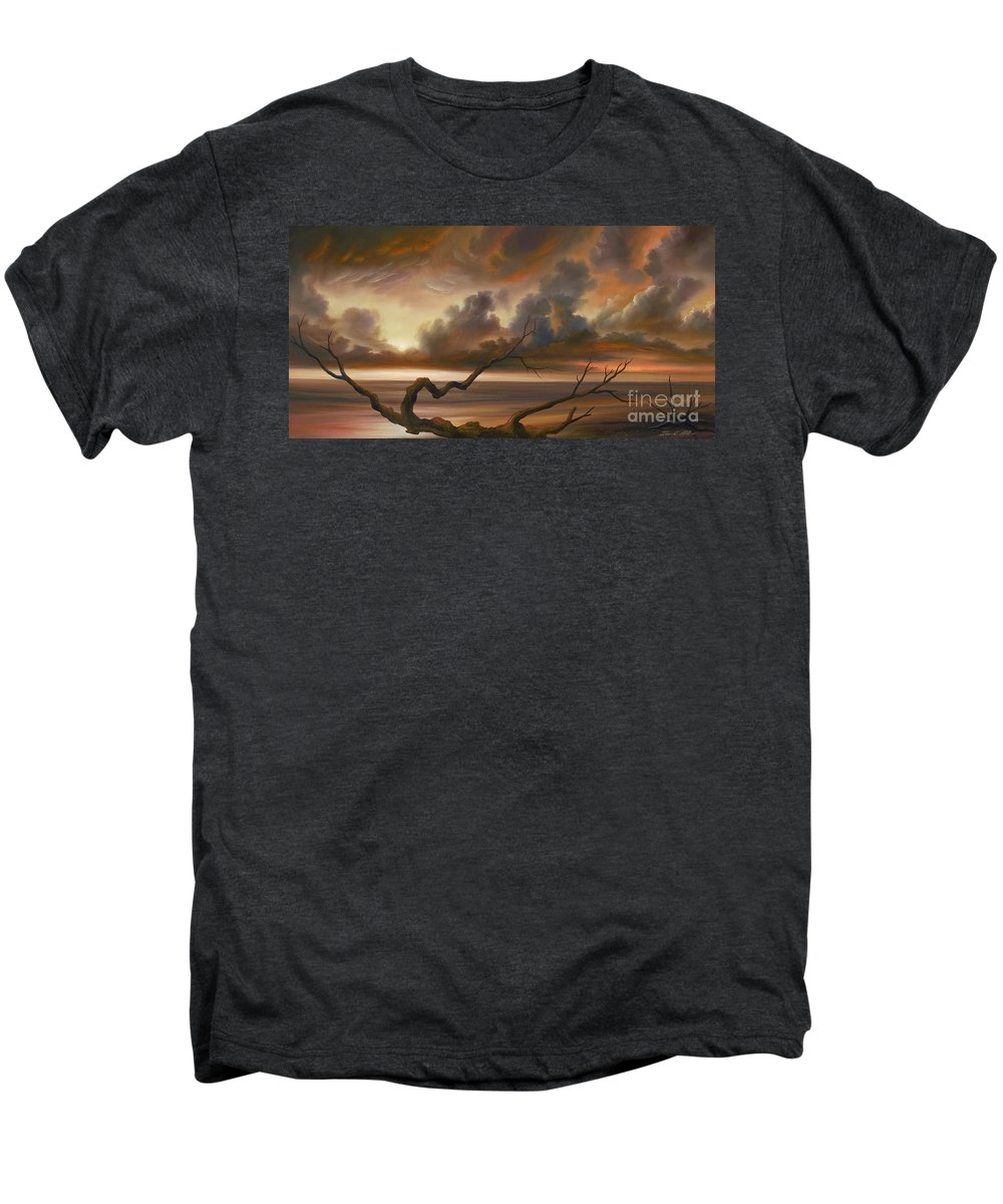 Ocean Men's Premium T-Shirt featuring the painting Botany Bay by James Christopher Hill