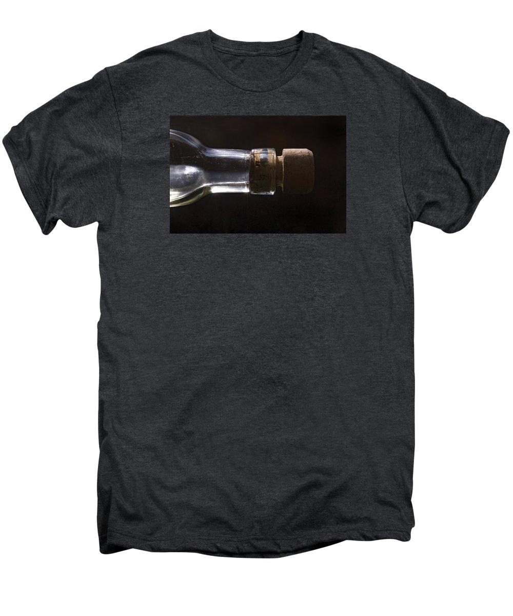 Cork Men's Premium T-Shirt featuring the photograph Bottle And Cork-1 by Steve Somerville