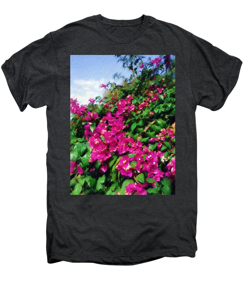 Bougainvillea Men's Premium T-Shirt featuring the photograph Bougainvillea by Sandy MacGowan