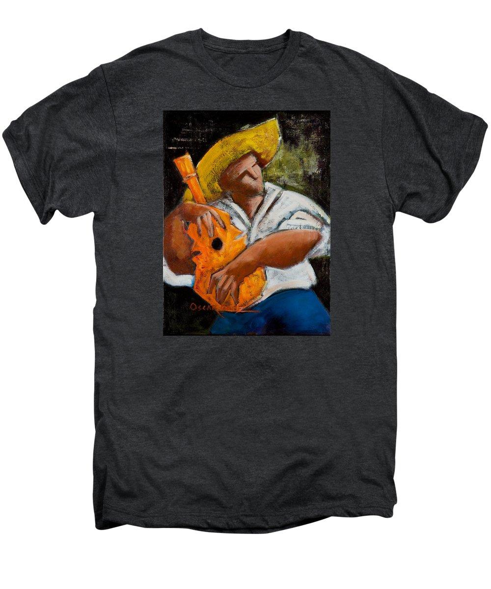Puerto Rico Men's Premium T-Shirt featuring the painting Bravado Alla Prima by Oscar Ortiz