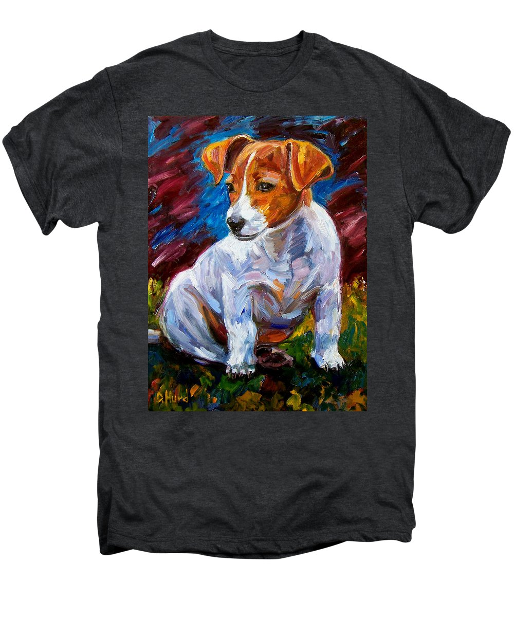 Dog Art Men's Premium T-Shirt featuring the painting Break Time by Debra Hurd