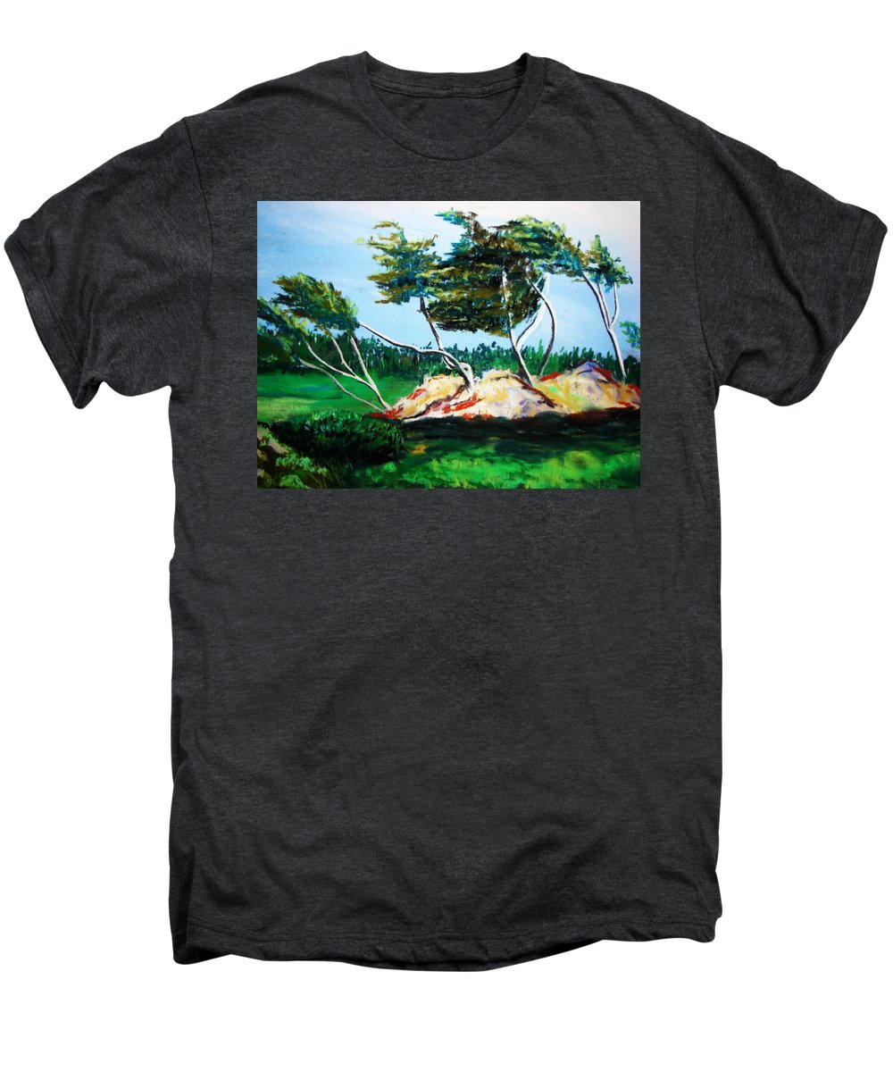 California Men's Premium T-Shirt featuring the painting Breezy by Melinda Etzold