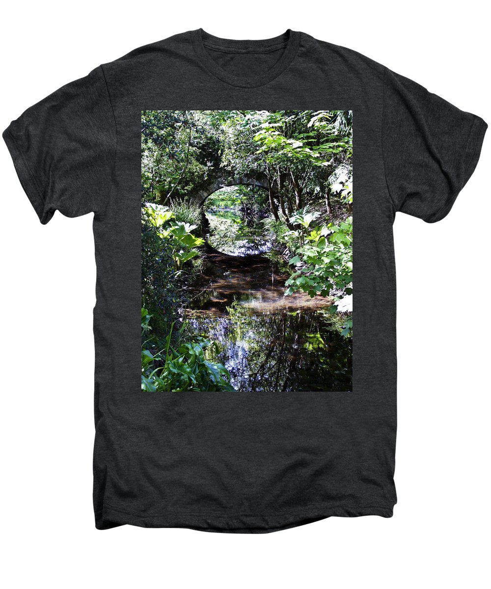 Irish Men's Premium T-Shirt featuring the photograph Bridge Reflection At Blarney Caste Ireland by Teresa Mucha