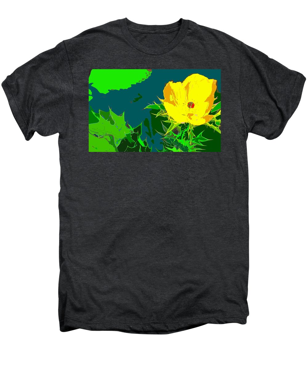 Men's Premium T-Shirt featuring the photograph Brimstone Yellow by Ian MacDonald