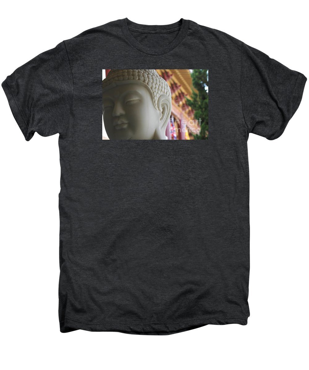 Zen Men's Premium T-Shirt featuring the photograph Buddha At Hsi Lai Temple by Michael Ziegler